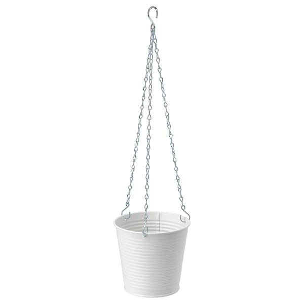 CASHEWÄPPLE Hanging planter, in/outdoor white, 12 cm