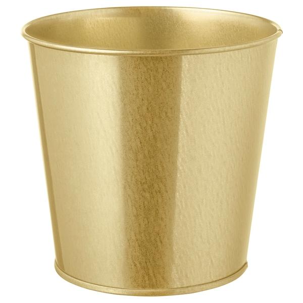 DAIDAI Plant pot, brass-colour, 12 cm