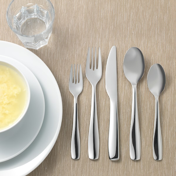 DOFTSAM 20-piece cutlery set, stainless steel