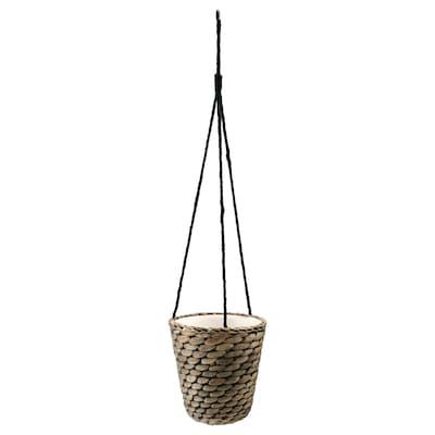 DRUVFLÄDER Hanging planter, water hyacinth/grey, 14 cm