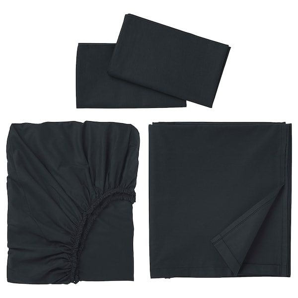 DVALA Sheet set, black, King