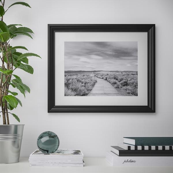 EDSBRUK Frame, black stained, 41x51 cm