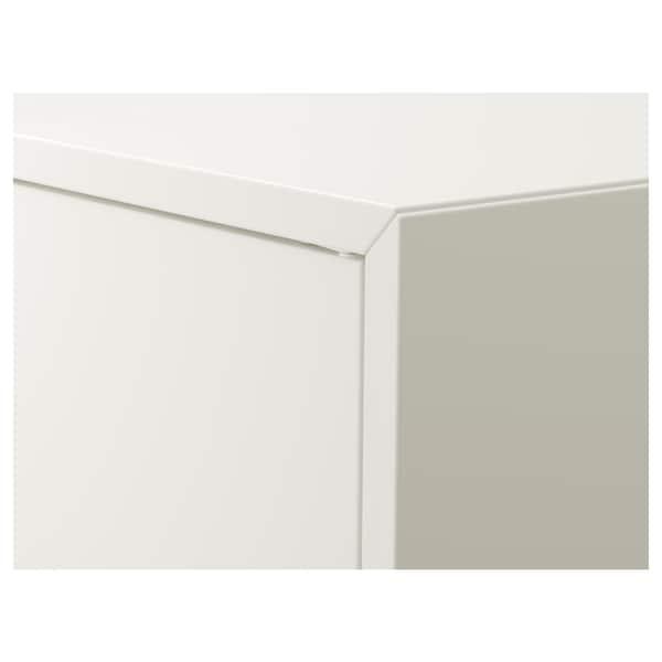 EKET Cabinet w 2 doors and 1 shelf, white, 70x35x70 cm