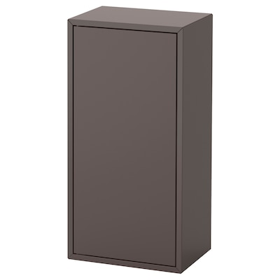 EKET Cabinet w door and 2 shelves, dark grey, 35x25x70 cm
