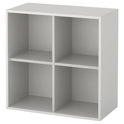 EKET Cabinet with 4 compartments, light grey, 70x35x70 cm