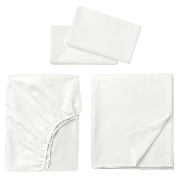 FÄRGMÅRA Sheet set, white, Full/Double