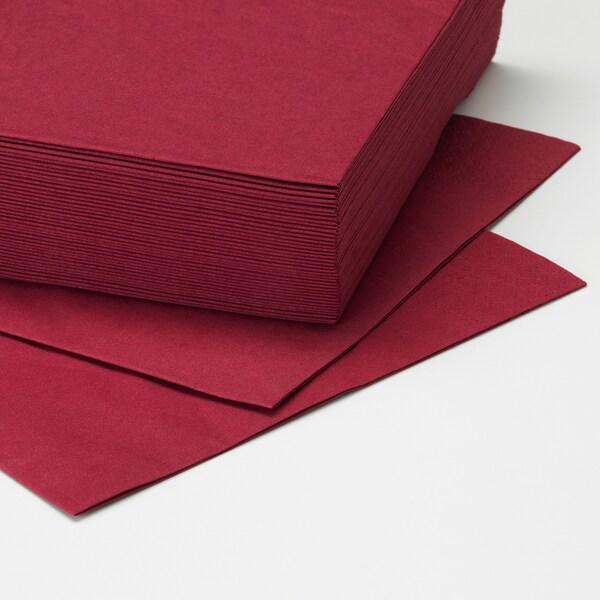 FANTASTISK Paper napkin, dark red, 40x40 cm