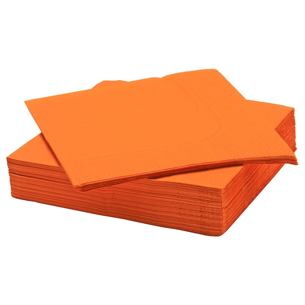 FANTASTISK Paper napkin, orange, 40x40 cm
