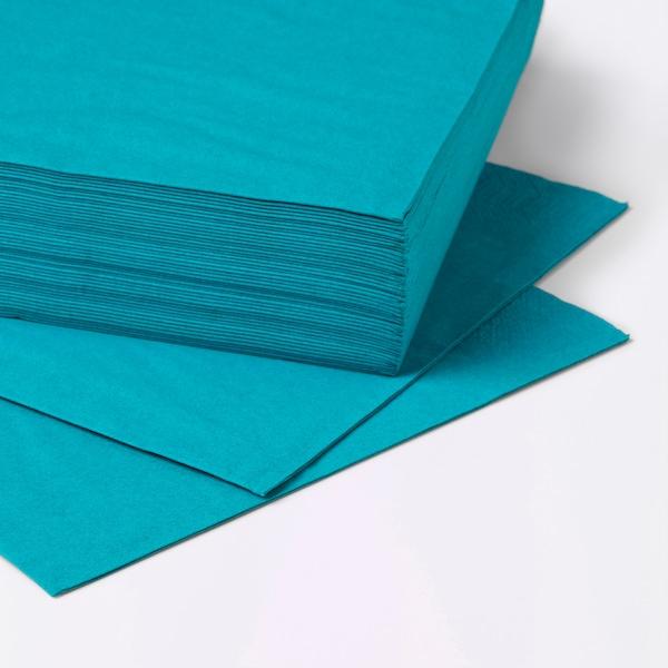 FANTASTISK Paper napkin, turquoise, 40x40 cm