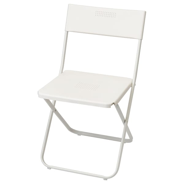 FEJAN Chair, outdoor, foldable white