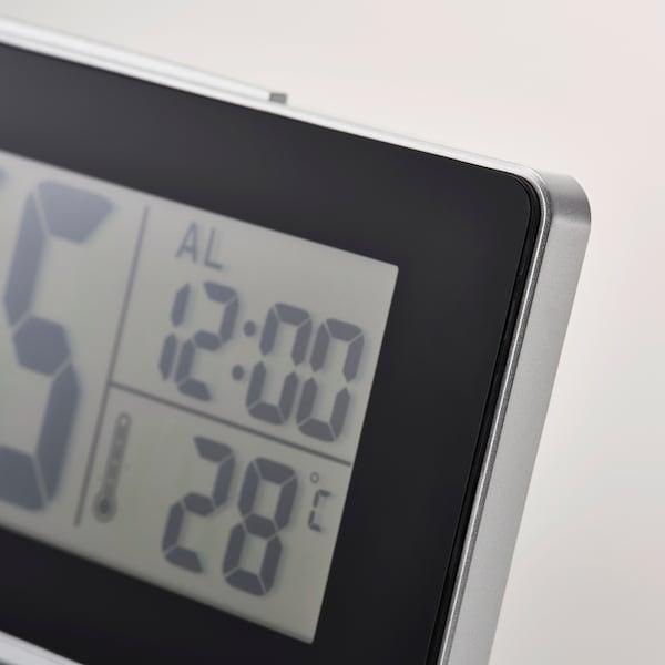 FILMIS Clock/thermometer/alarm, black