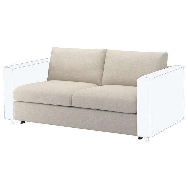 FINNALA 2-seat sofa-bed section, Gunnared beige