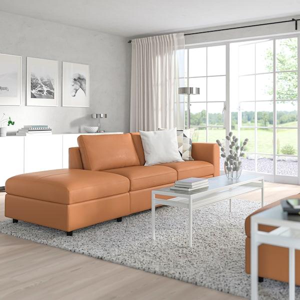 FINNALA 3-seat sofa, with open end/Grann/Bomstad golden-brown