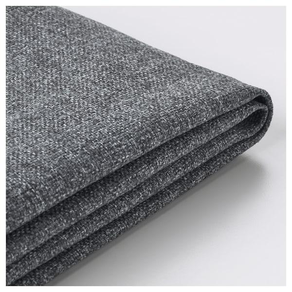 FINNALA Cover for footstool with storage, Gunnared medium grey