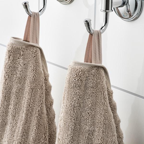FLODALEN Bath sheet, dark beige, 100x150 cm