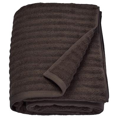 FLODALEN Bath sheet, dark brown, 100x150 cm