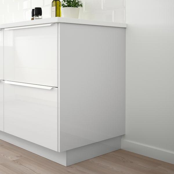 FÖRBÄTTRA Cover panel, high-gloss white, 63x203 cm