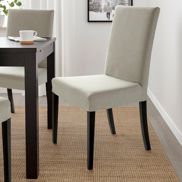 HARRY Chair, black/Knisa light beige