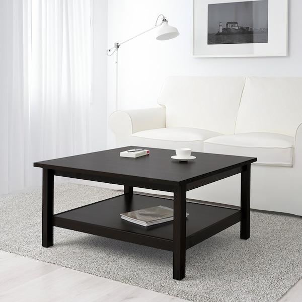 hemnes coffee table black brown 90x90 cm