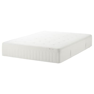 HESSTUN Eurotop mattress, medium firm/white, Queen