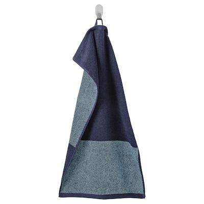 HIMLEÅN Hand towel, dark blue/mélange, 40x70 cm