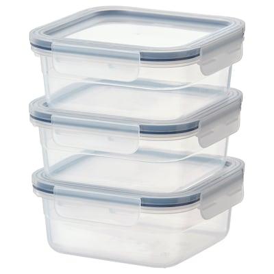 IKEA 365+ Food container, square/plastic, 750 ml