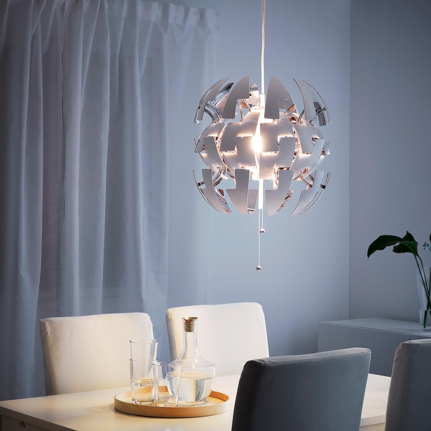 Ikea Ps 2014 Pendant Lamp White Silver Colour 35 Cm Ikea