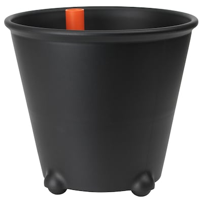 IKEA PS FEJÖ Self-watering plant pot, black, 32 cm