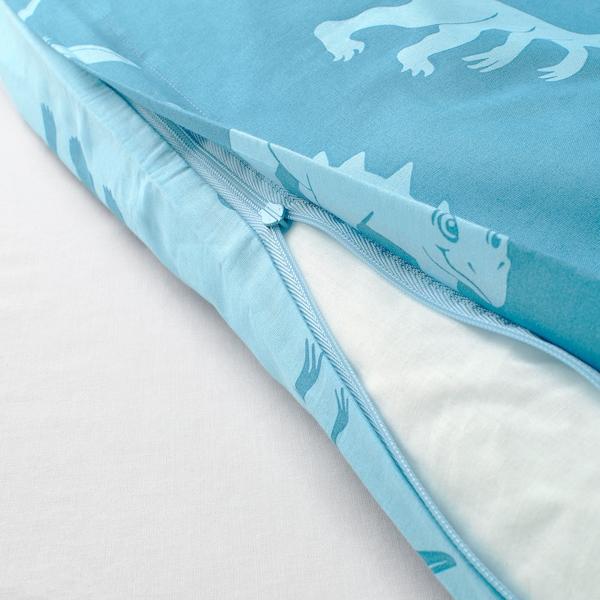 JÄTTELIK Duvet cover and pillowcase, dinosaur/blue, Twin