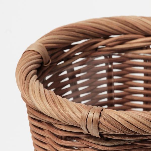 KAKTUSFIKON Plant pot, rattan, 12 cm