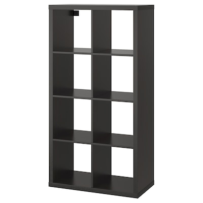 KALLAX Shelving unit, black-brown, 77x147 cm