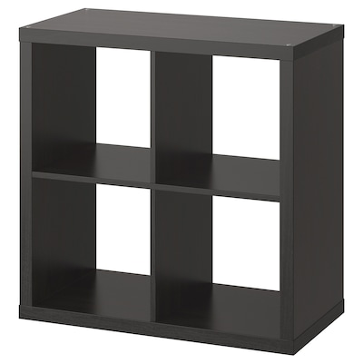 KALLAX Shelving unit, black-brown, 77x77 cm