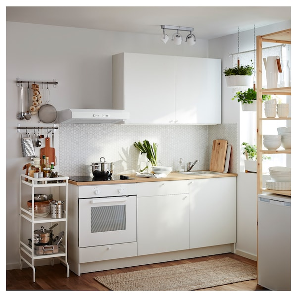 Knoxhult Base Cabinet With Doors And Drawer White 121 9x61 0x91 4 Cm Ikea