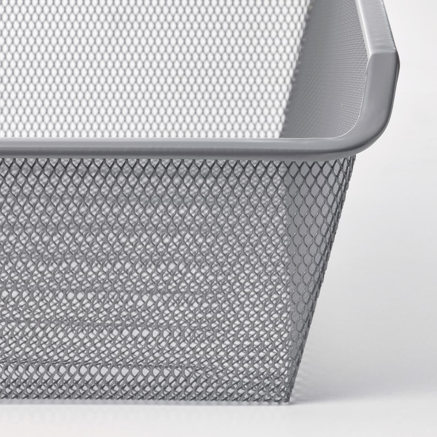 KOMPLEMENT Mesh basket with pull-out rail, dark grey, 75x35 cm