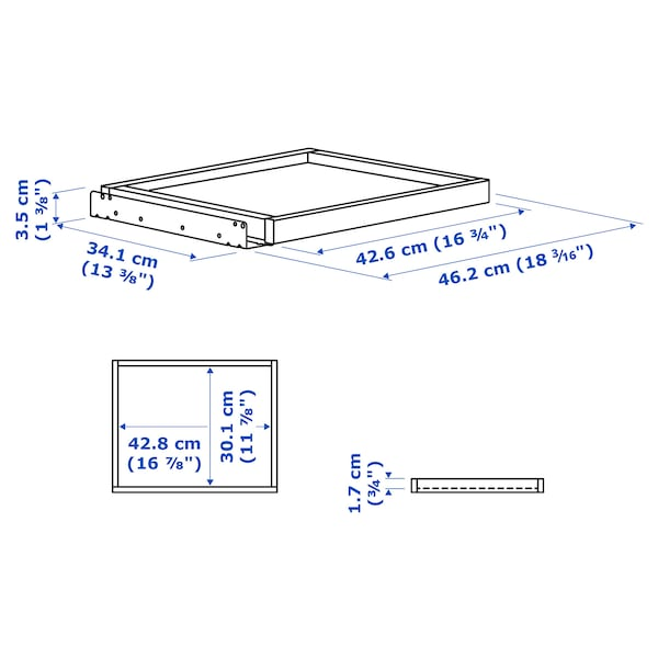 KOMPLEMENT Pull-out tray, white, 50x35 cm