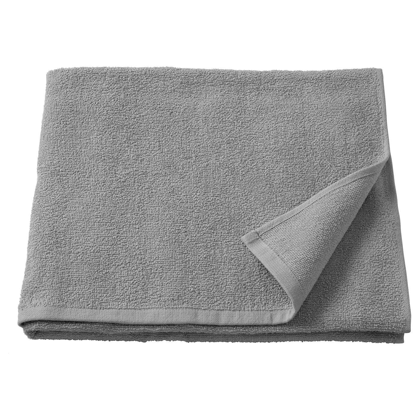 KORNAN Bath towel, grey, 70x140 cm - IKEA