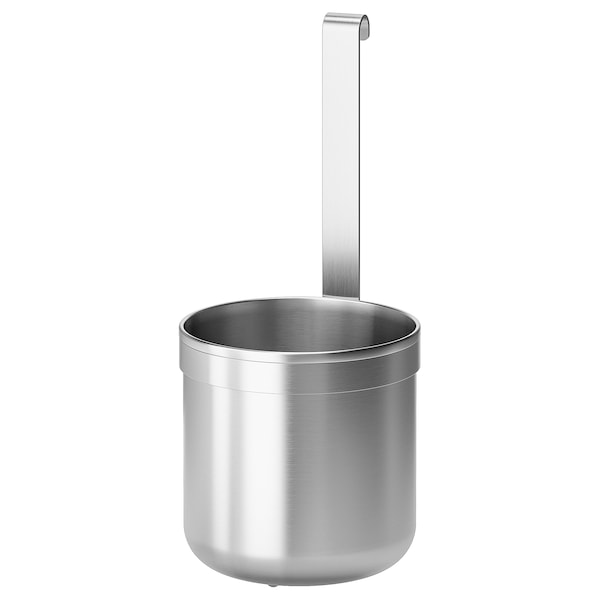 KUNGSFORS Container, stainless steel, 12.0x26.5 cm