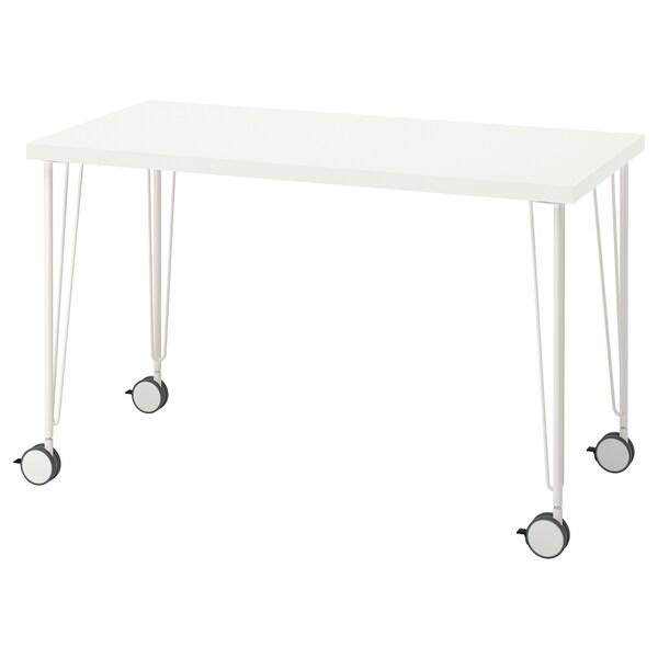 LAGKAPTEN / KRILLE Desk, white, 120x60 cm