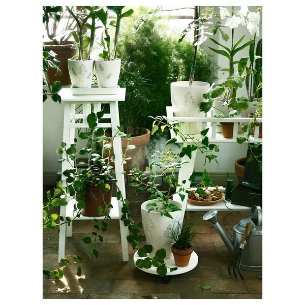 LANTLIV Plant stand, white, 78 cm