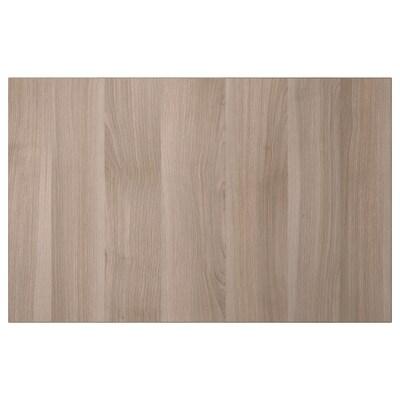 LAPPVIKEN Door/drawer front, grey stained walnut effect, 60x38 cm