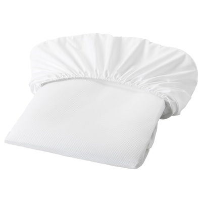 LENAST Mattress protector, white, 70x132 cm