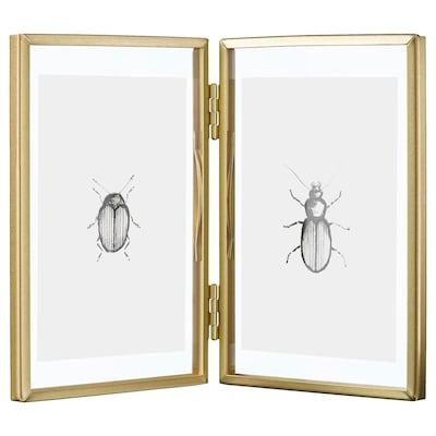 LERBODA Frame, gold-colour, 10x15 cm