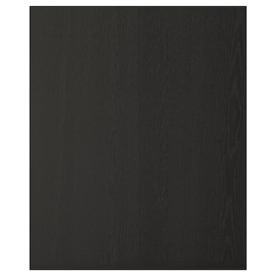 LERHYTTAN Cover panel, black stained, 62.7x76.2 cm