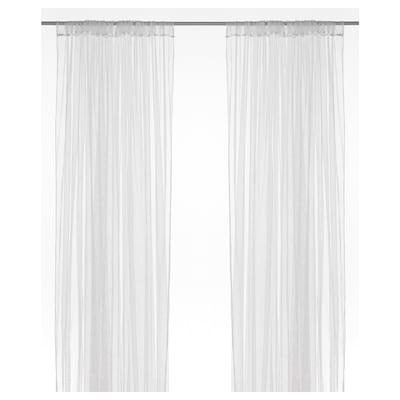 LILL Net curtains, 1 pair, white, 280x250 cm