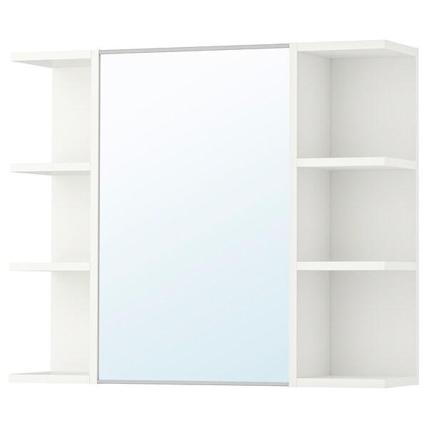 LILLÅNGEN Mirror cabinet 1 door/2 end units, white, 78x21x64 cm