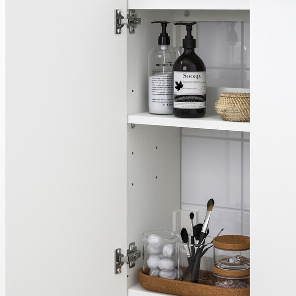 LILLÅNGEN Washbasin cabinet with 2 doors, white/Ensen tap, 62x27x93 cm