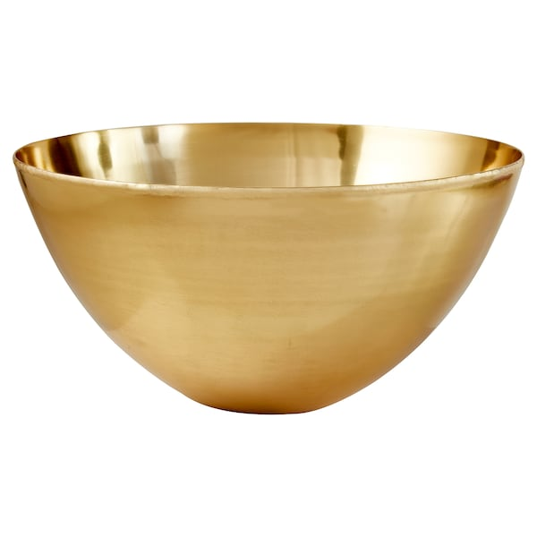 LINDRANDE Decorative bowl, brass-colour, 32 cm