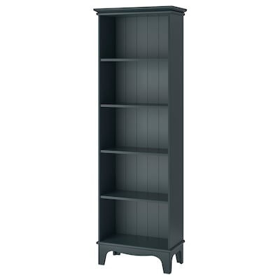LOMMARP Bookcase, dark blue-green, 65x199 cm