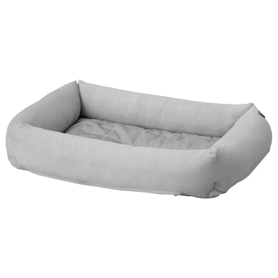 LURVIG Dog bed, light grey, M