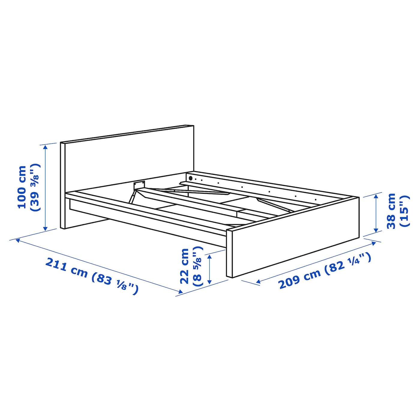 Malm Bed Frame High Black Brown Luroy Ikea